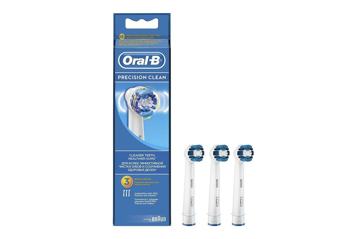 New Oral-B 3x Replacement Brush Heads Precision Clean EB20 80284202