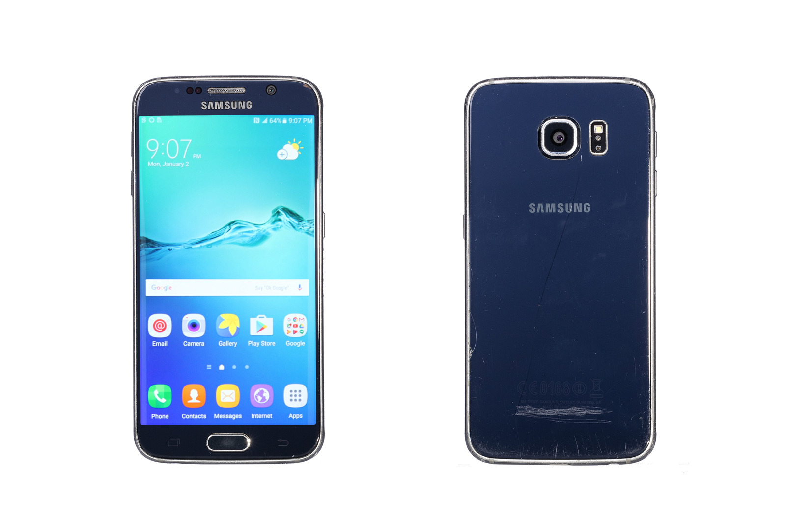 Samsung Galaxy S6 Black Sapphire 32GB SM-G920 Grade C replacement box