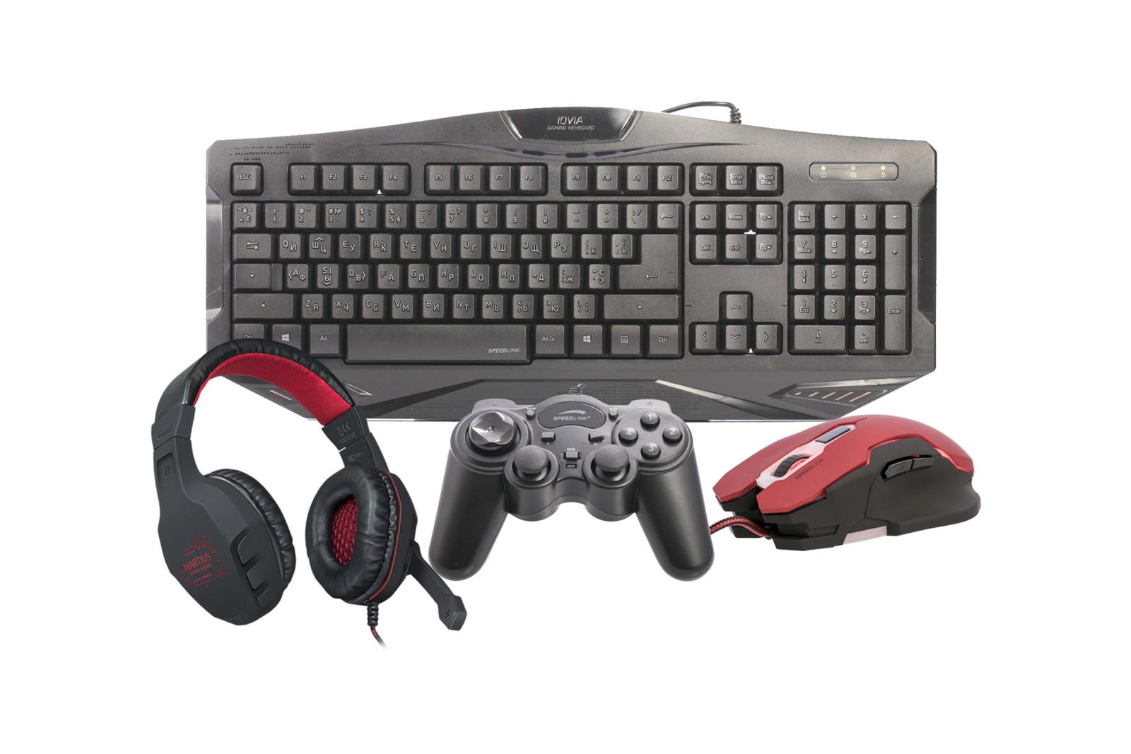 Speedlink Gaming Set Mouse Controller Keyboard Headset Pc